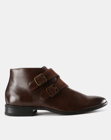 Zah Leonardo Formal Boots Brown