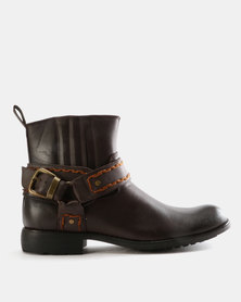 Zah Ryder Slip On Boots Brown
