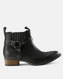Zah Winston Slip On Boots Black