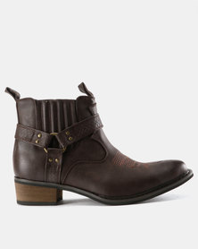 Zah Winston Slip On Boots Brown