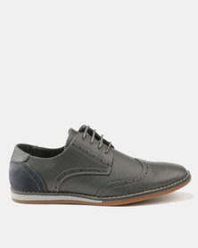 Zah Manson Casual Lace Up Grey