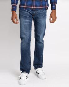 Levi's 505 Regular Fit Jeans Back Beat Blue
