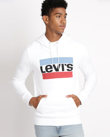 Levi's®  Graphic Hoodie Olympic Pull Over White