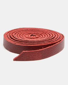 non-european ® Skinny Wrap Belt Ruby