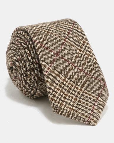 non-european® Male Tie Light Check Multi