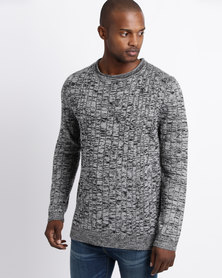 Utopia Fitted Jumper Black/Grey
