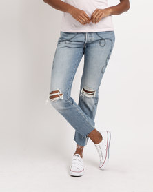 Levi's ® 501® Cropped Jeans Birthday Bae Blue