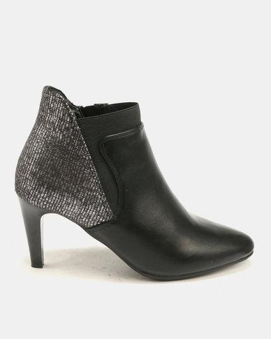 a776a63f353c Butterfly Feet Samara Heeled Ankle Boots Black   Zando