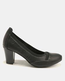 Butterfly Feet Vera Court Heels Black