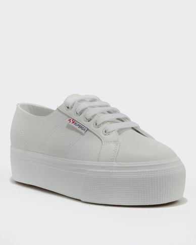 Sneakers Full Leather Low Cut Superga Wedge White xoeWrCBQd