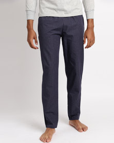 Black Lemon Huey Large Check PJ Pants Navy