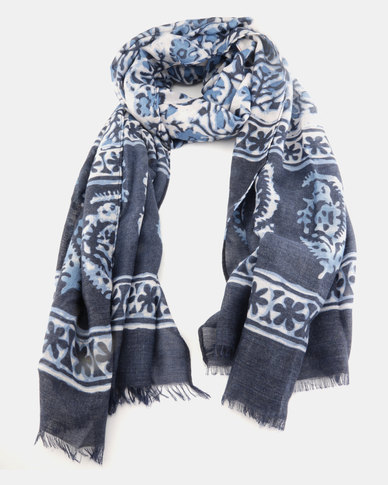Lily & Rose Floral Scarf Navy