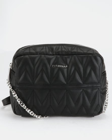 Fiorelli Lola Chain Shoulder Bag Black Quilt