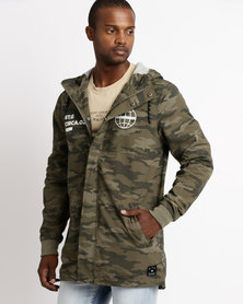 St Goliath Covered Hooded Jacket Green Camo