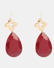 Klines Teardrop Earrings Red