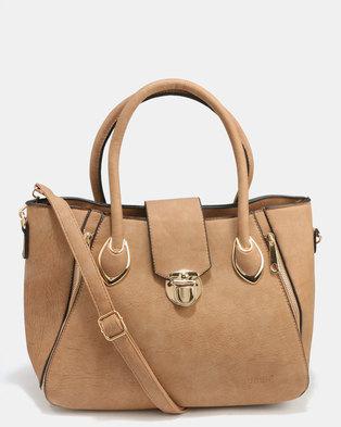 Blackcherry Bag Smart Hand Bag With Cross Body Combo Beige