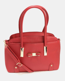 Blackcherry Bag Smart Tote Handbag Set Red
