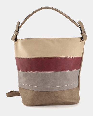 Blackcherry Bag Hobo Taupe Multi