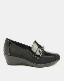 Butterfly Feet Shona Wedge Black