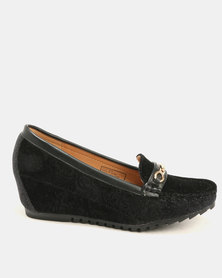 Butterfly Feet Tilly Wedge Black