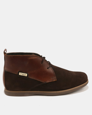 Omega Lace Up Ankle Boot Carvano Choc Suede/Brown