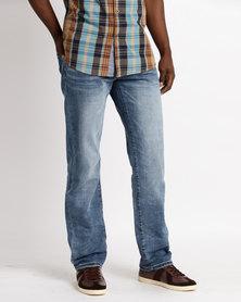 Denim Jeans Mid Blue Indigo