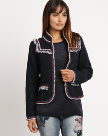 cath.nic By Queenspark Military Inspired Woven Jacket Navy
