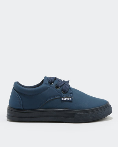 Soviet Clyde PU K Sneakers Navy Mono
