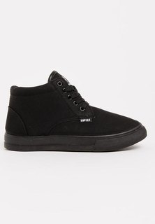 Soviet Clyde PU Hi Youth Sneakers Black Mono