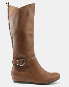 Call It Spring Kirschenbaum Boots Cognac