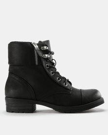 Call It Spring Prien Combat Boots Black
