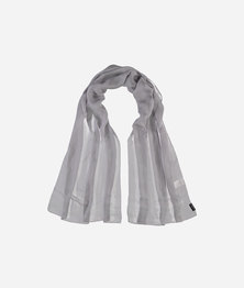FRAAS Women Evening Shimmer Print Silk Chiffon Basic Monochrome Scarf Light Grey