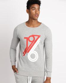 Unruly 1976 Sweatshirt Grey Melange