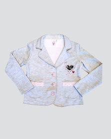 Eco-Punk Kids Blazer Fleece Grey