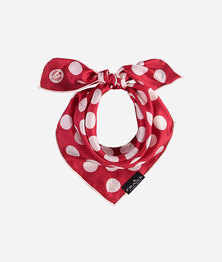 FRAAS Women Polkadot Basic print Scarf Silk Square Multicolour CL. Red
