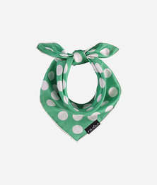 FRAAS Women Polkadot Basic Print Scarf Silk Square Multicolour Emerald