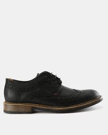 Bronx Jump Brogue Shoes Black