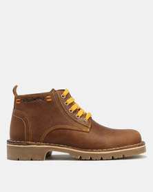 Grasshoppers Urban Leather Boots Tan