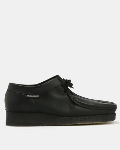 grasshoppers softee casual leather lace up shoes black  zando
