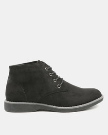 Jeep Willow 1 Flat Ankle Boots Black