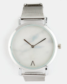 Joy Collectables Mesh Strap Watch Silver-Tone