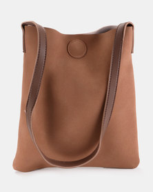 Joy Collectables Mini Shopper Handbag Tawny Brown