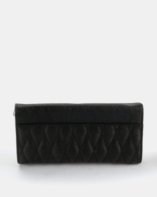 c3a3ae82bc Joy Collectables Quilted Clutch Purse Black