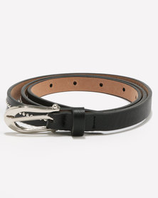 Joy Collectables Skinny Stud Belt Black