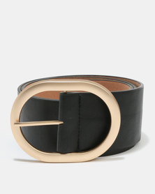 Joy Collectables Oval Buckle Belt Black