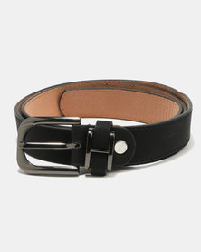 Joy Collectables Gunmetal Buckle Belt Black