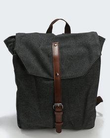 Joy Collectables Buckle Strap Backpack Black
