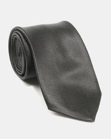 Joy Collectables Plain Satin Tie Black