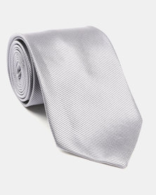 Joy Collectables Plain Satin Tie Grey