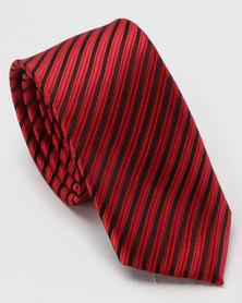 Joy Collectables Textured Tie Burgundy